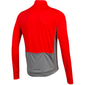 PEARL iZUMi Quest Thermische Longsleeve Jersey Heren, torch red/smoked pearl